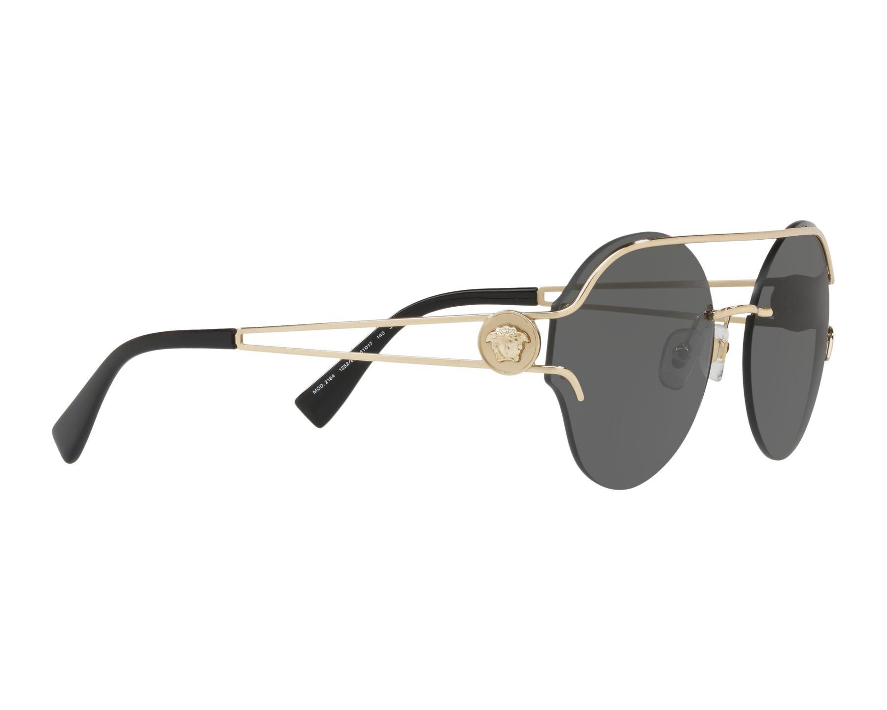 ffbd892ff743a Sunglasses Versace VE-2184 125287 61-17 Gold 360 degree view 11