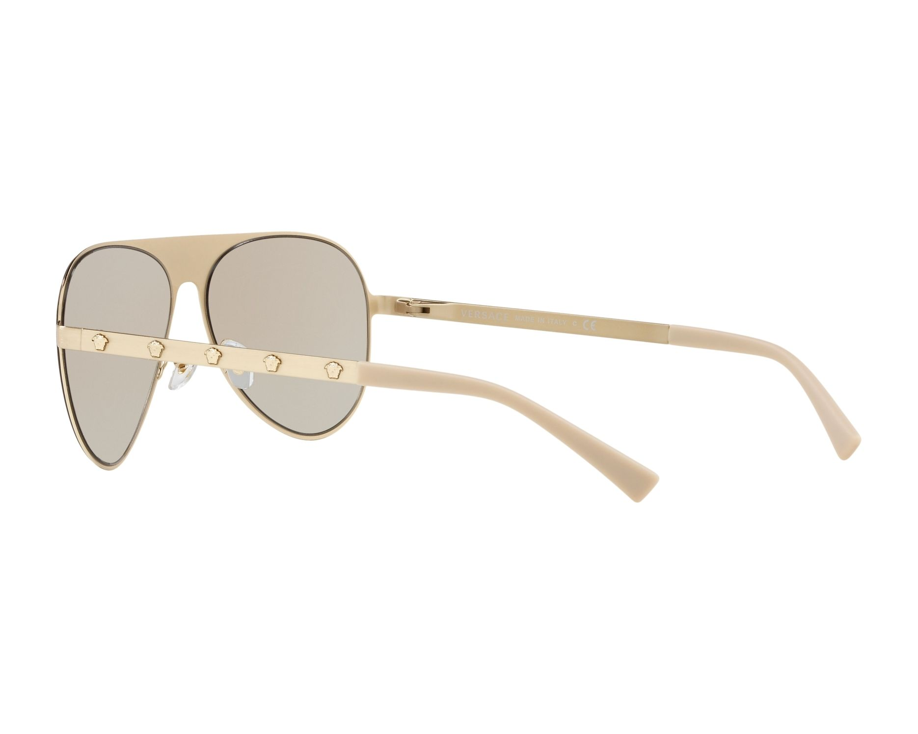 6fd5ceee7910 Sunglasses Versace VE-2189 1339 3 59-14 Gold 360 degree view 5