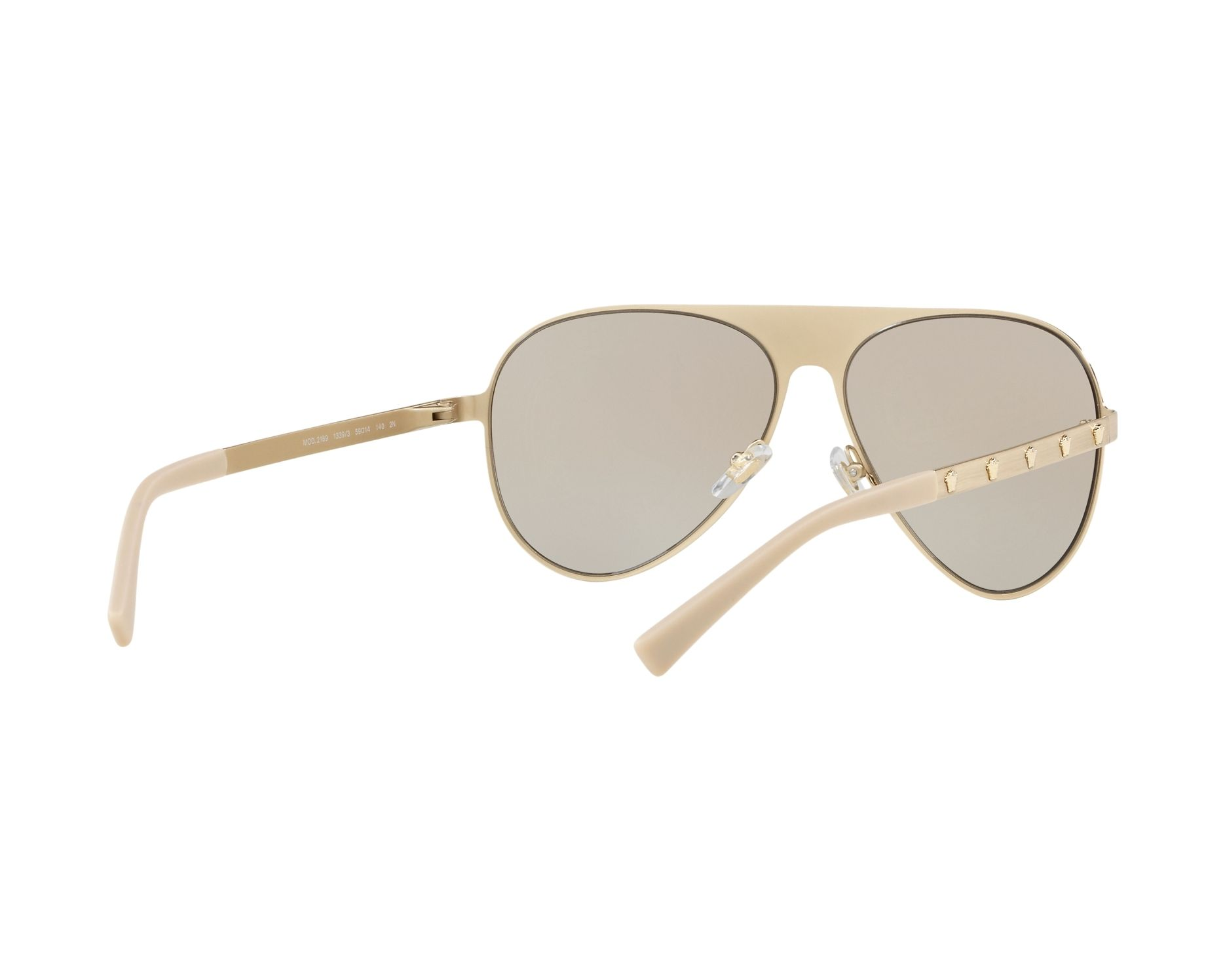 590d0e05acf2 Sunglasses Versace VE-2189 1339 3 59-14 Gold 360 degree view 8