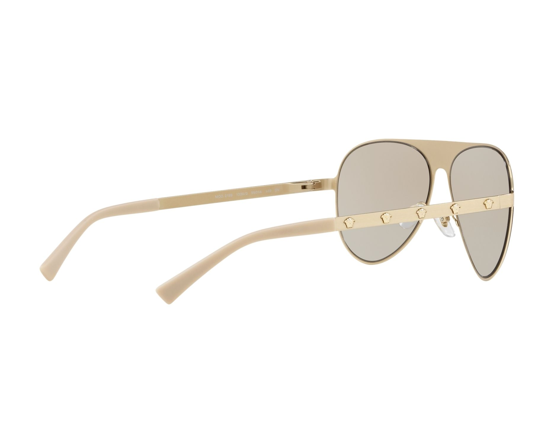 503b73fe7490 Sunglasses Versace VE-2189 1339 3 59-14 Gold 360 degree view 9