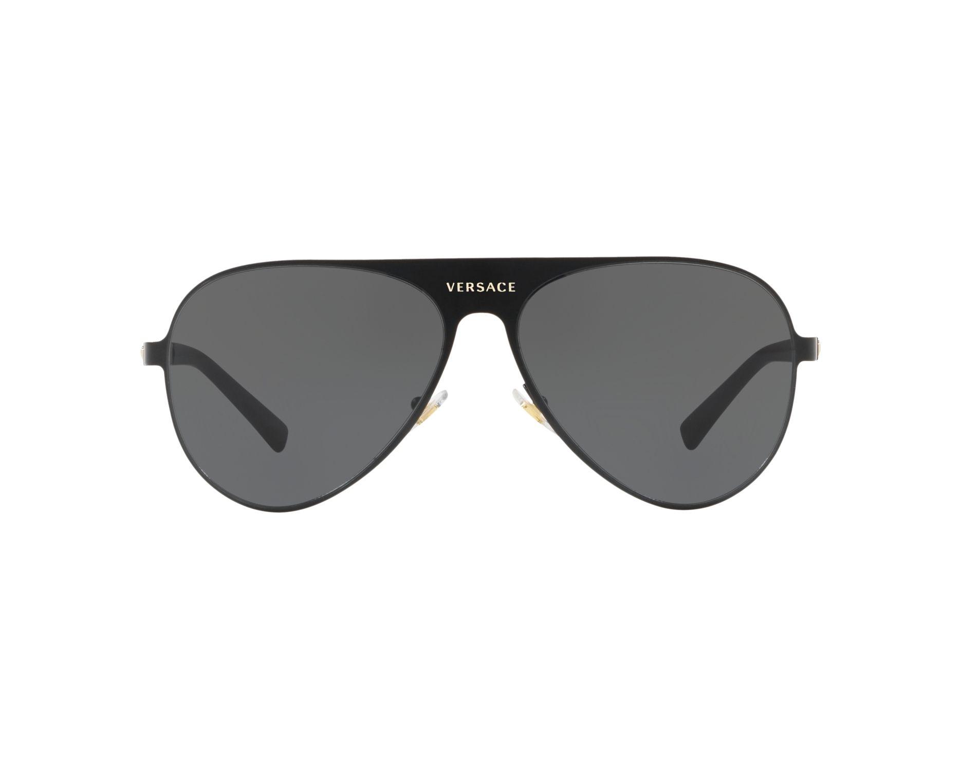 5df7c8ae379 Sunglasses Versace VE-2189 142587 59-14 Black Gold 360 degree view 1