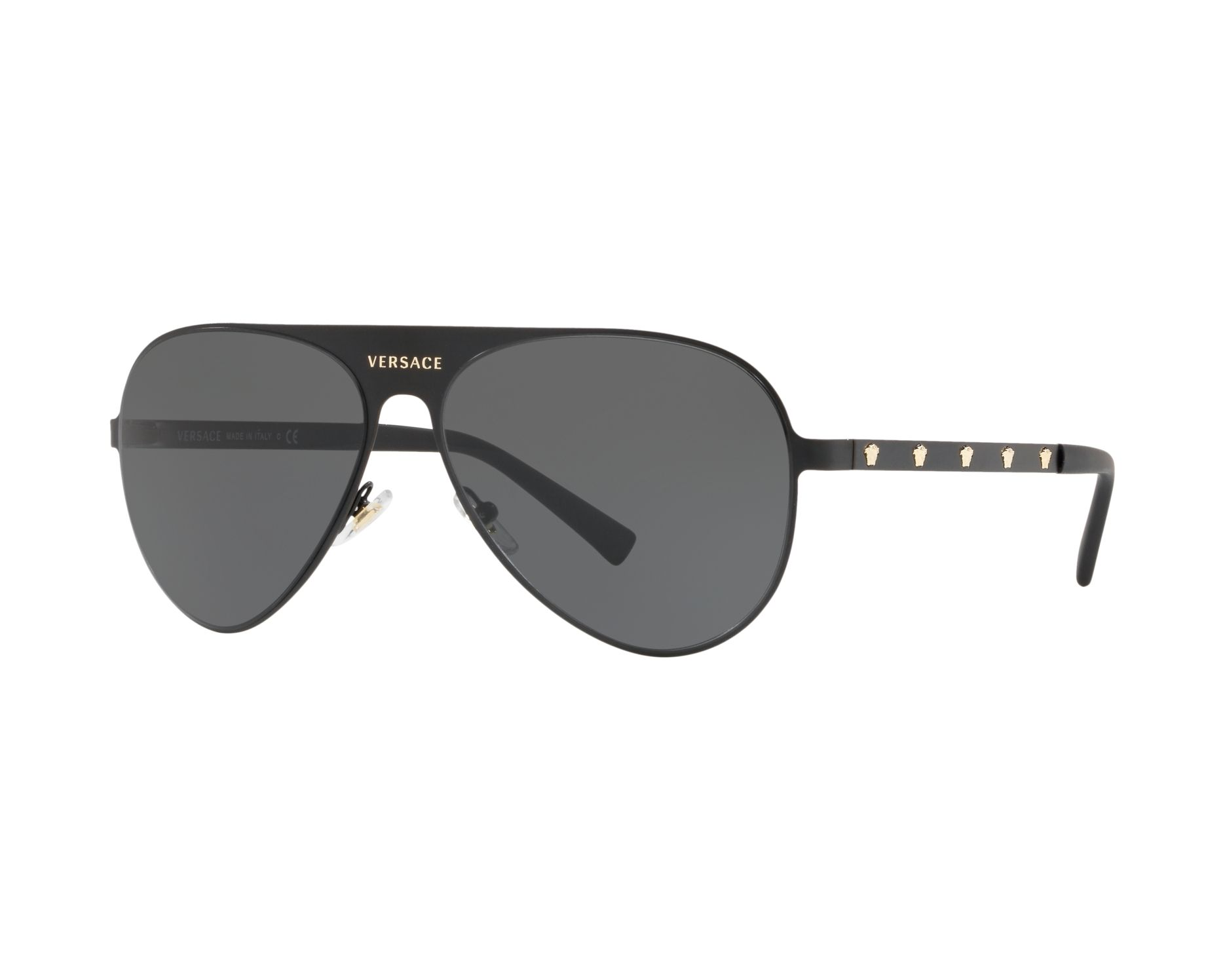 3b7fe420ee6 Sunglasses Versace VE-2189 142587 59-14 Black Gold