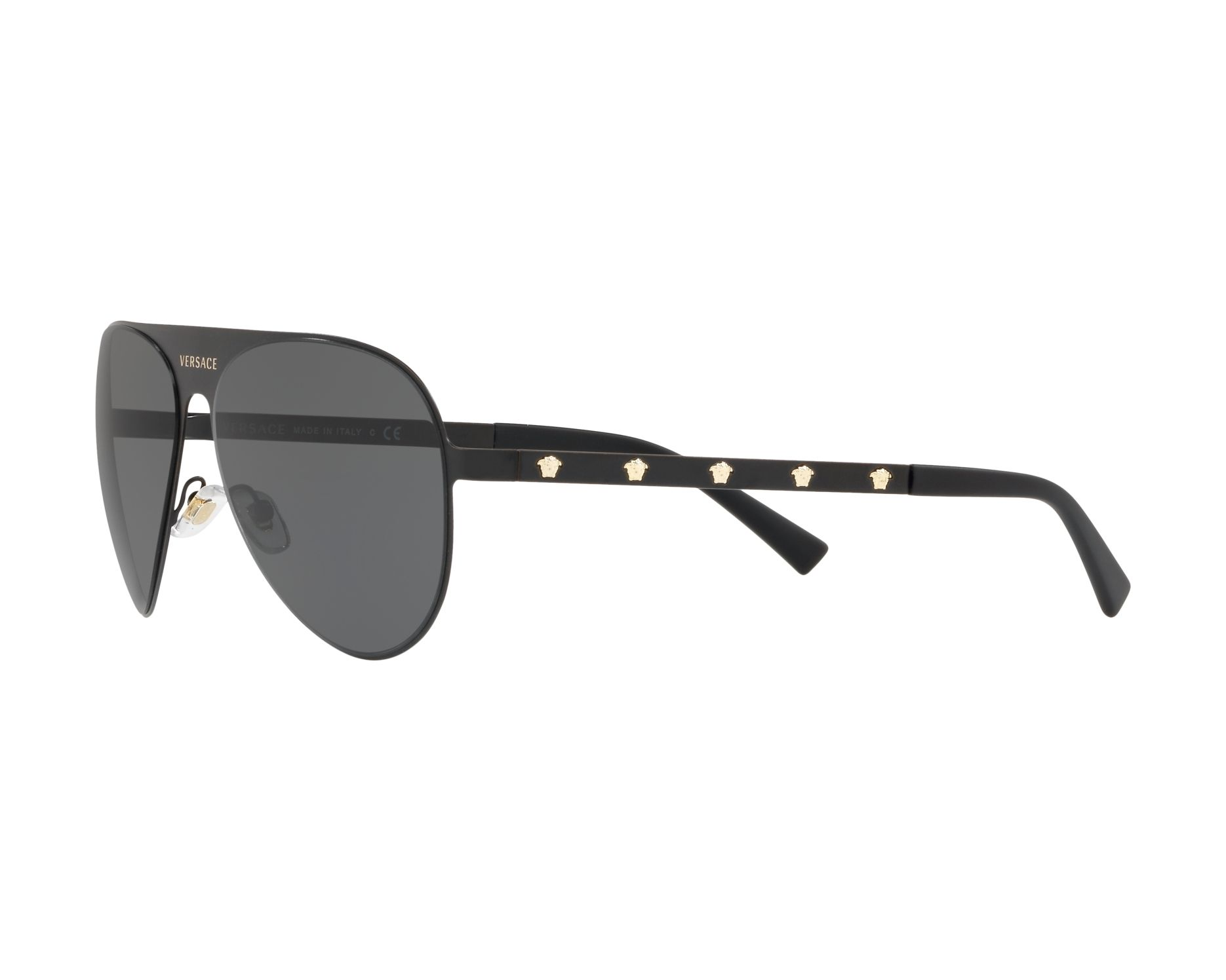 3802c49645e Sunglasses Versace VE-2189 142587 59-14 Black Gold 360 degree view 3