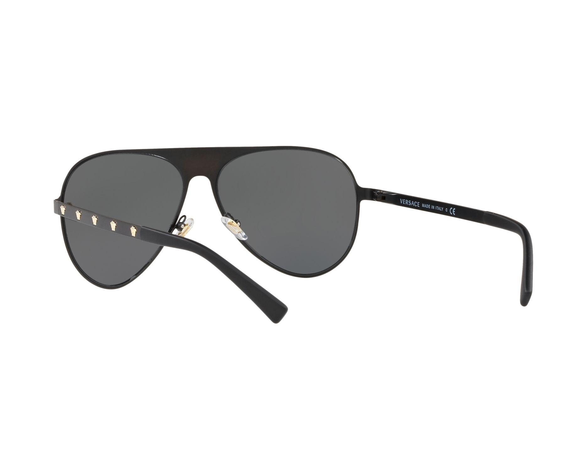 a624b252bb6 Sunglasses Versace VE-2189 142587 59-14 Black Gold 360 degree view 6