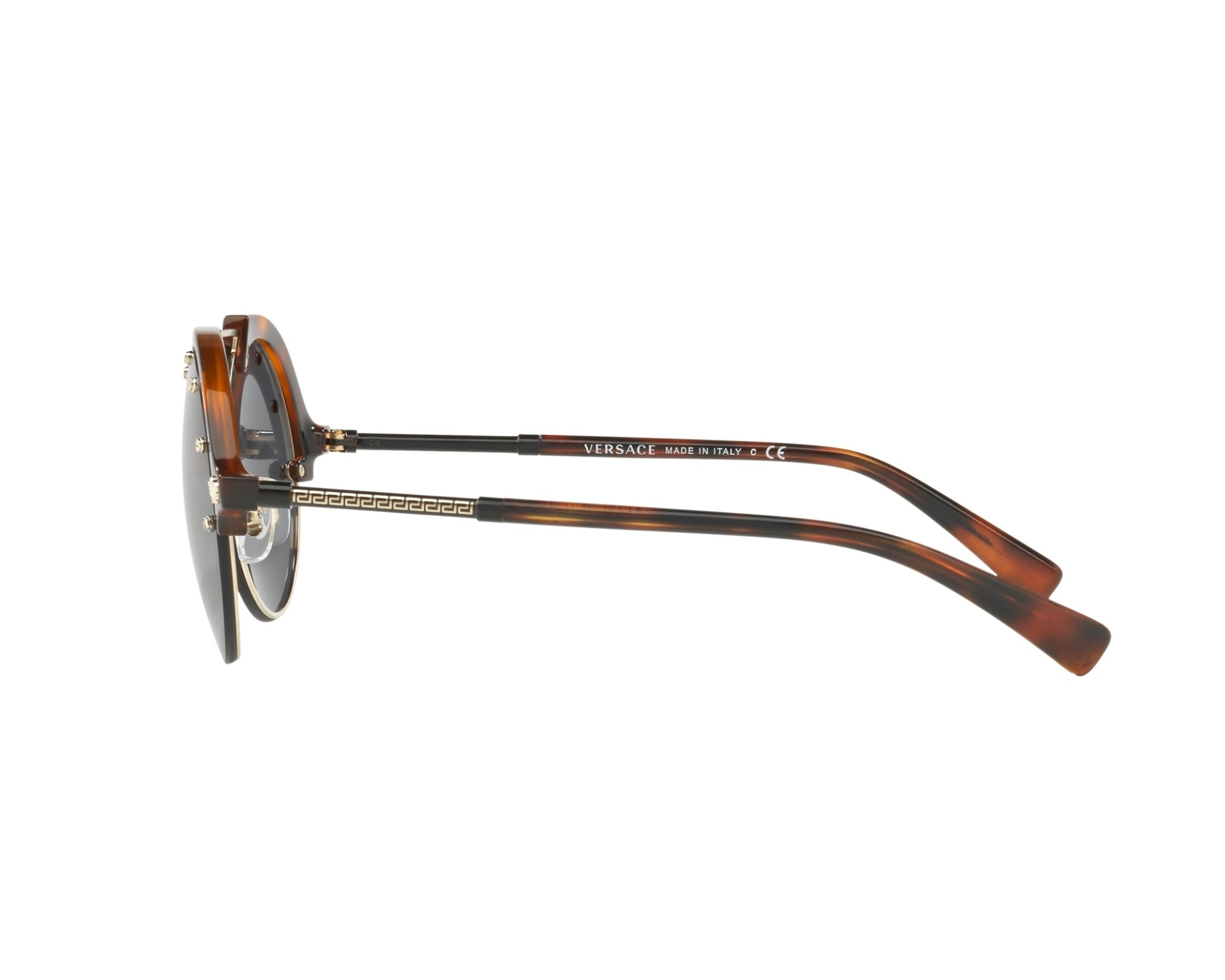 56324bc65c83e Sunglasses Versace VE-4337 260 87 53-20 Gold Brown 360 degree view