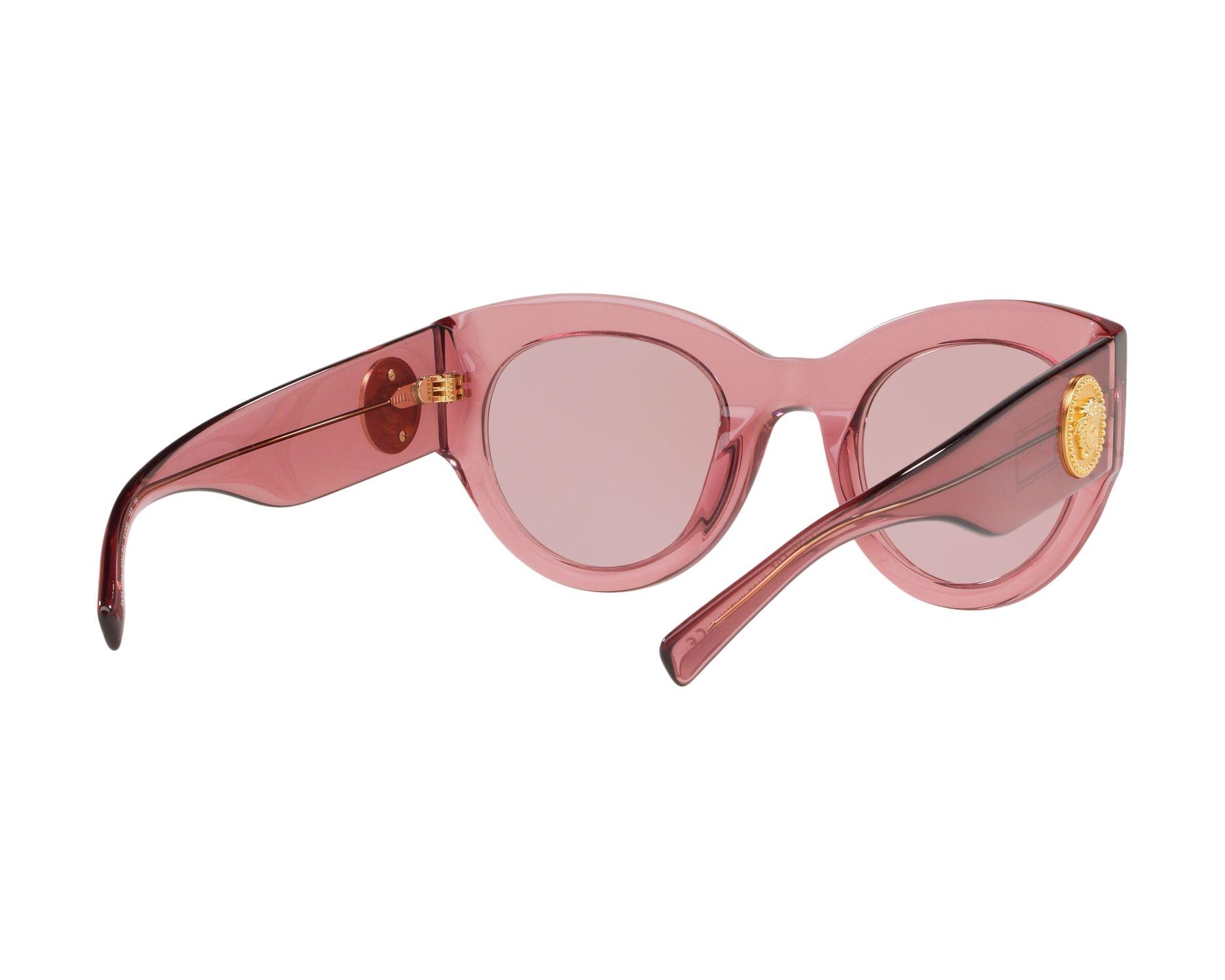 908218d2a54 Sunglasses Versace VE-4353 523484 51-25 Rosa 360 degree view 8