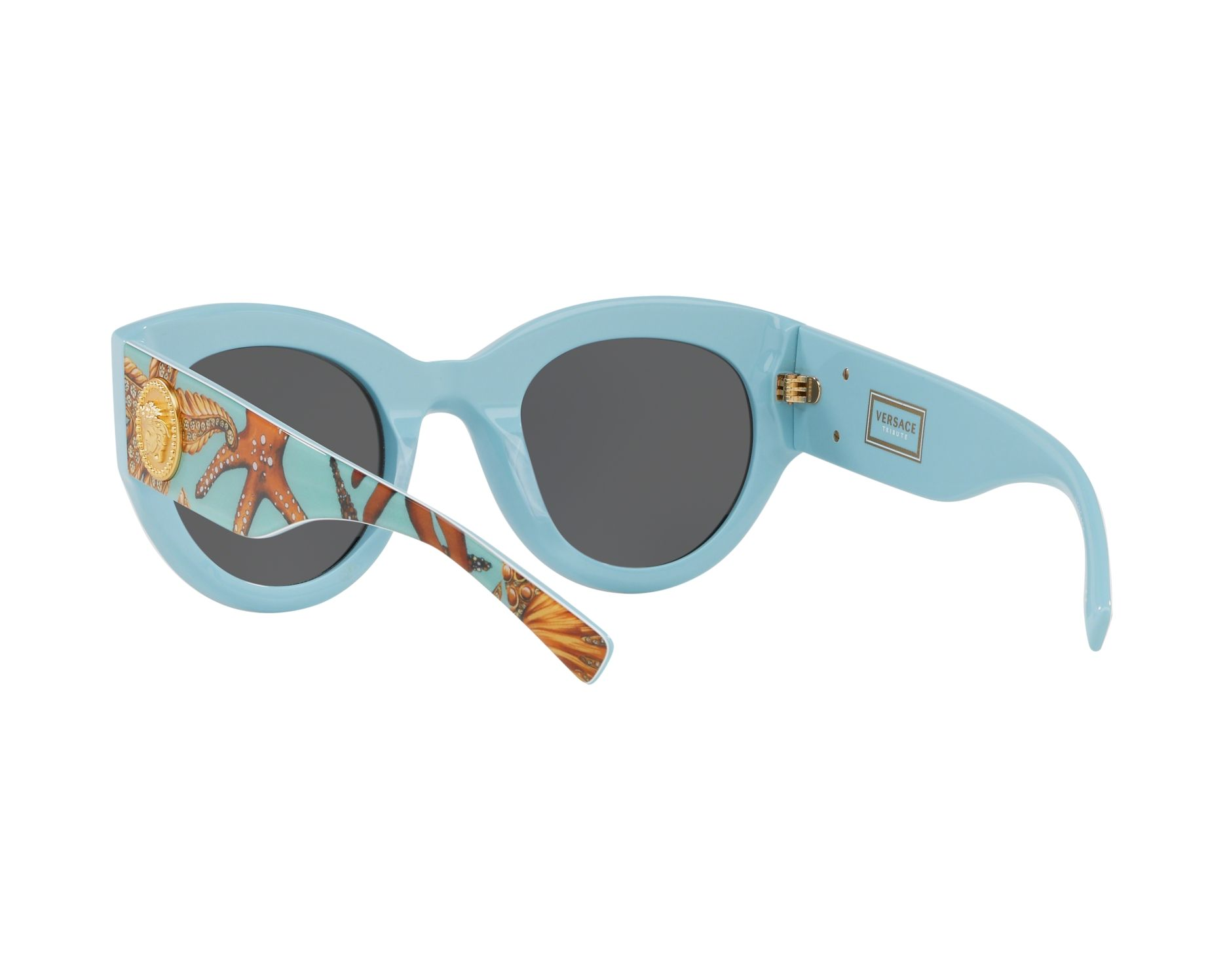 69a511aaed492 Sunglasses Versace VE-4353 528487 51-25 Green Turquoise 360 degree view 6