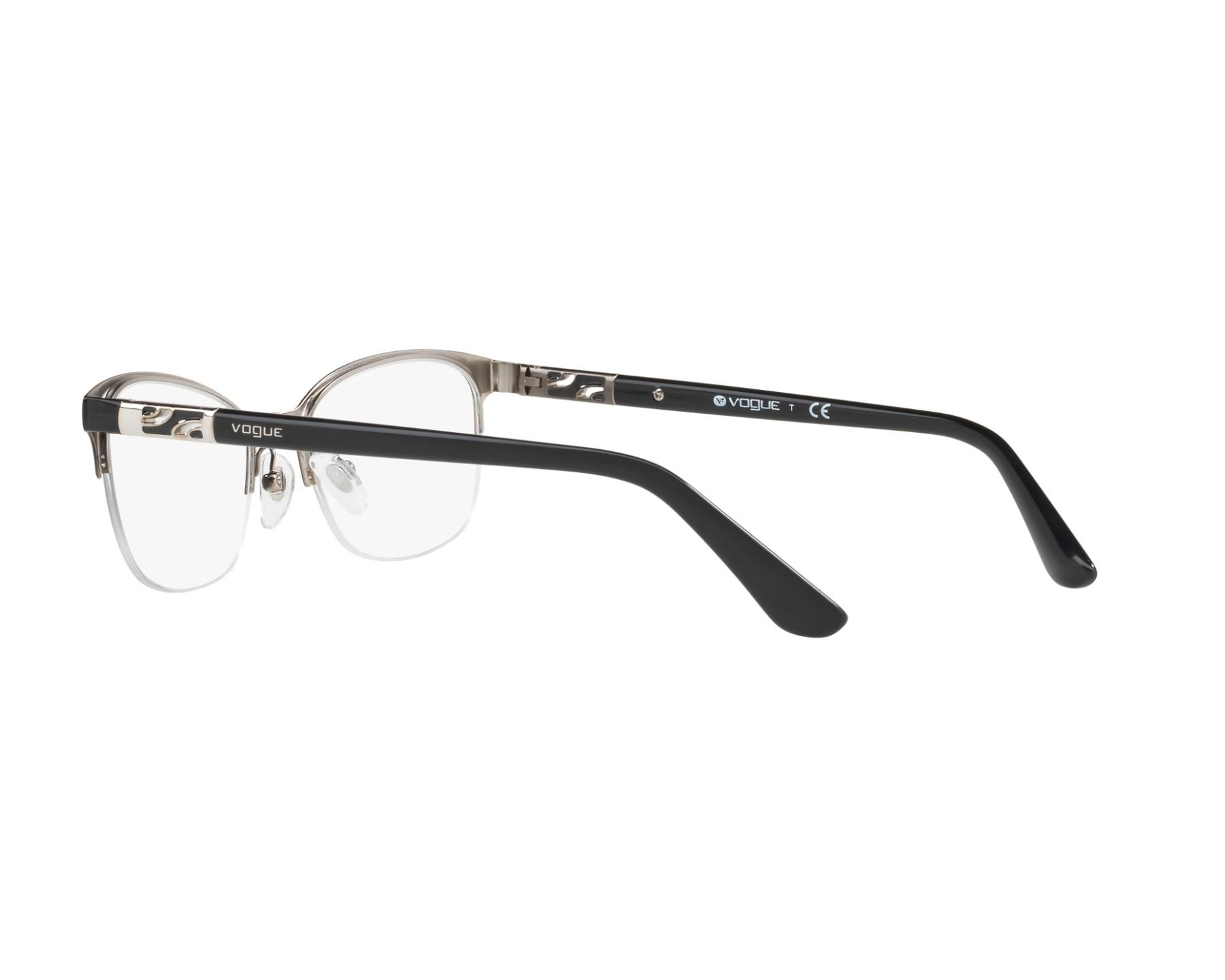 a5c1286755 eyeglasses Vogue VO-4067 352 - Black Silver 360 degree view 5