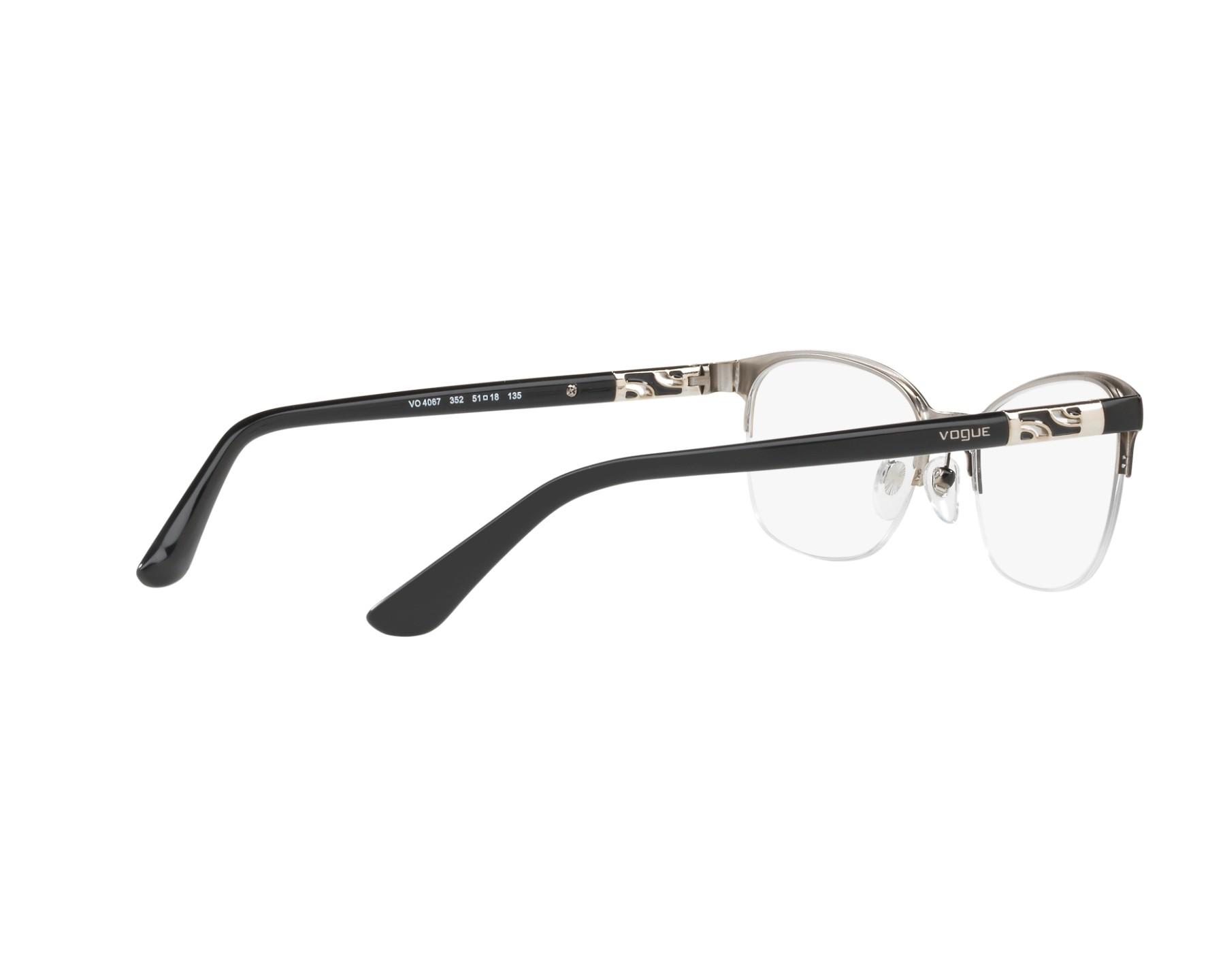 8aec85b1ea eyeglasses Vogue VO-4067 352 - Black Silver 360 degree view 9