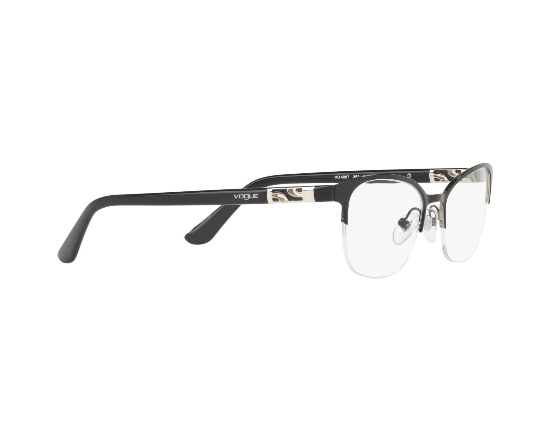 60fa3a25e3 eyeglasses Vogue VO-4067 352 - Black Silver 360 degree view 11