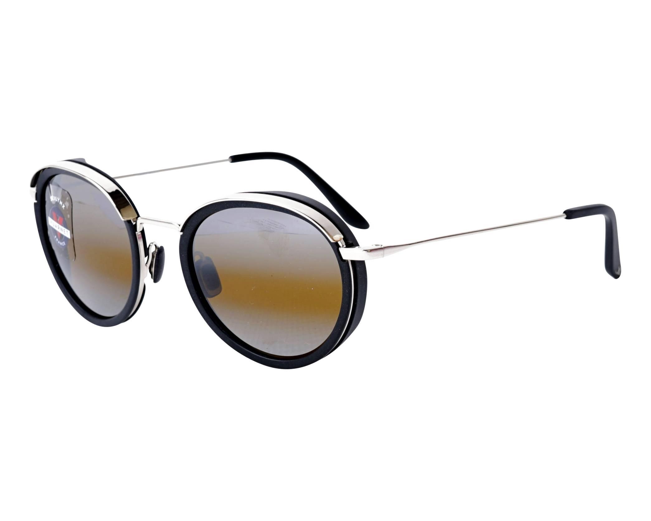 b23240a4cb Sunglasses Vuarnet VL-1818 0002-7184 47-17 Black Silver profile view