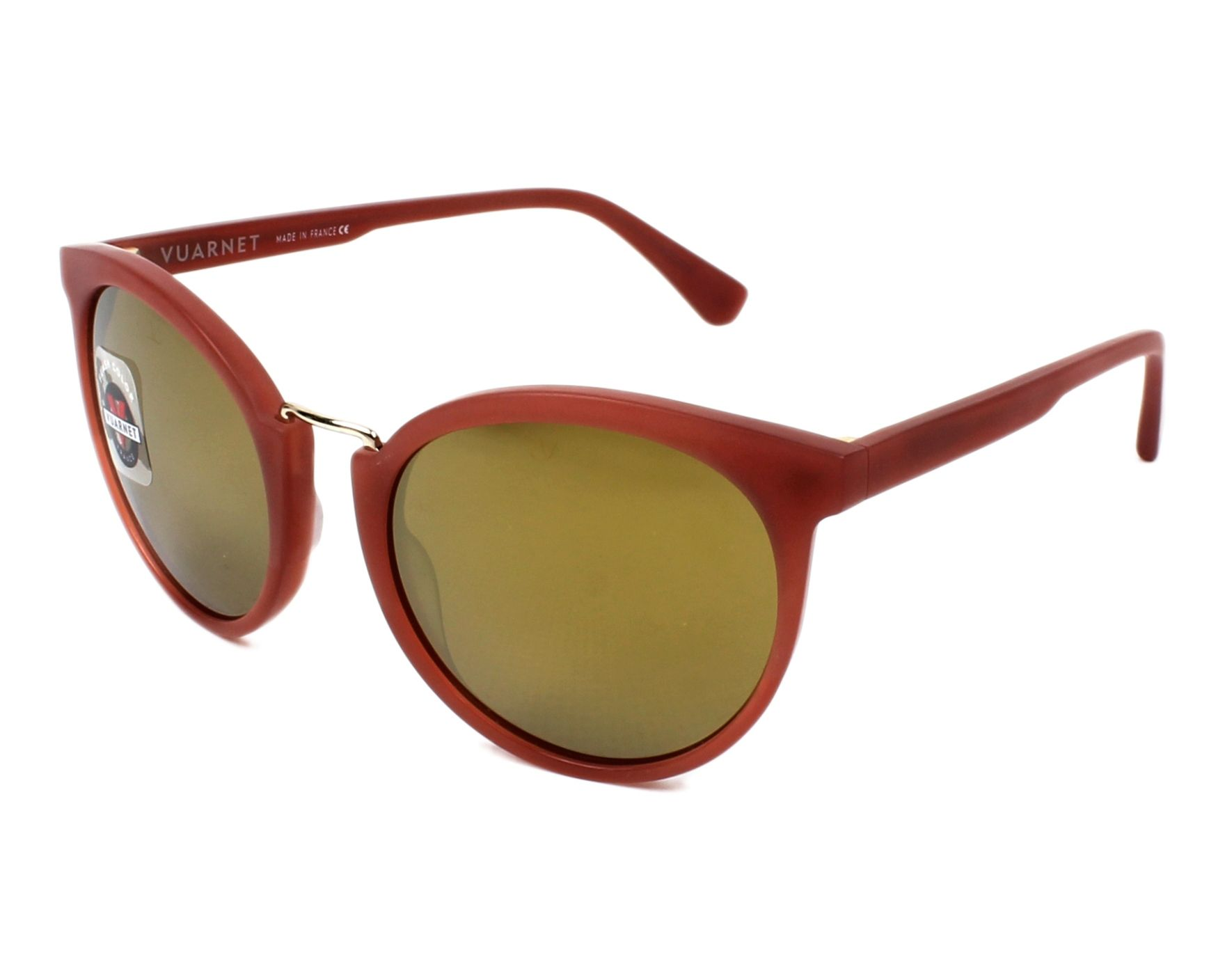6a7927ae90e Sunglasses vuarnet bordeaux gold profile view jpg 1760x1408 Vuarnet cat eyes