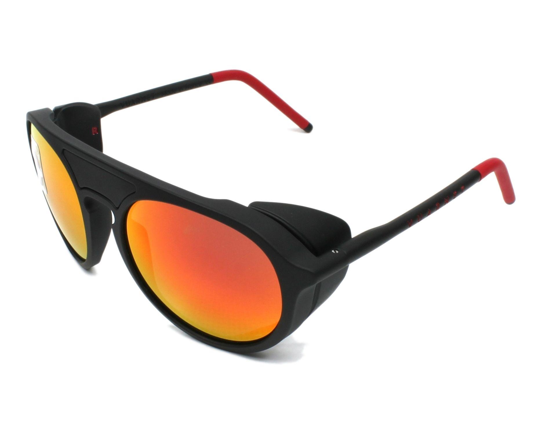 a81b6c305a Sunglasses Vuarnet VL-1709 0006-1130 51-18 Black Red profile view