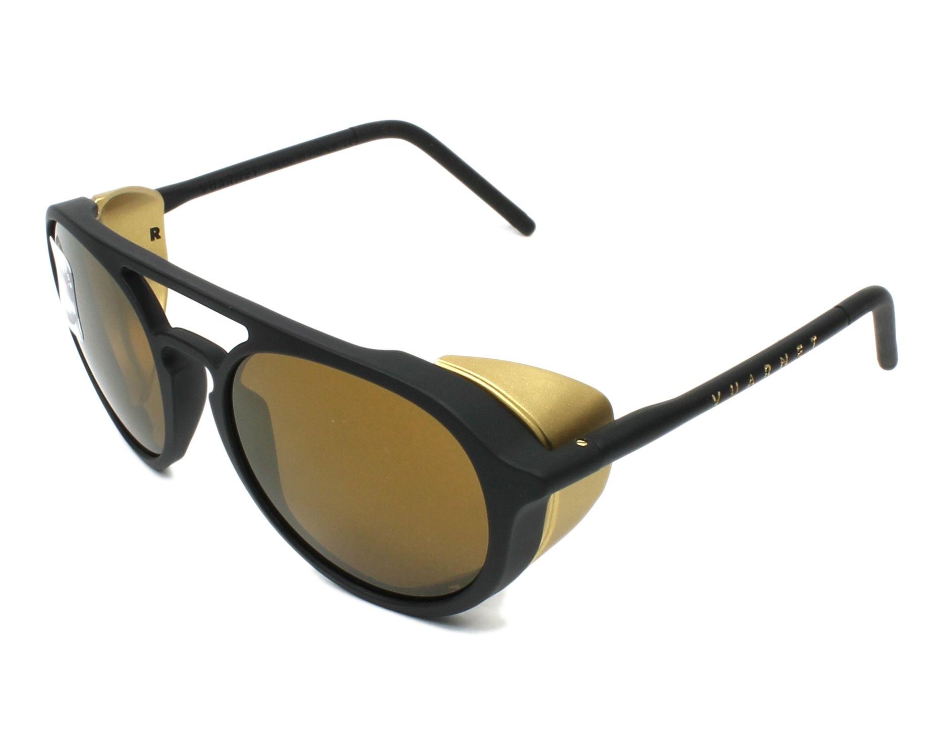 be249d960f693 Sunglasses Vuarnet VL-1709 0007-2129 51-18 Black Gold profile view