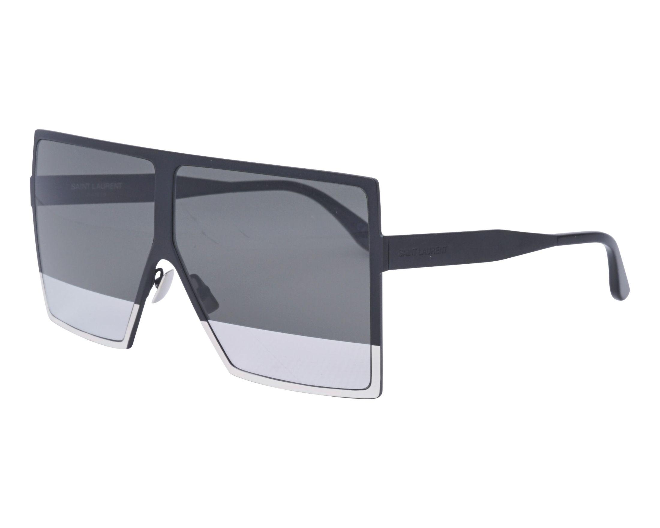d2260a7a1c2 Sunglasses Yves Saint Laurent SL-182 003 63-6 Black Silver profile view