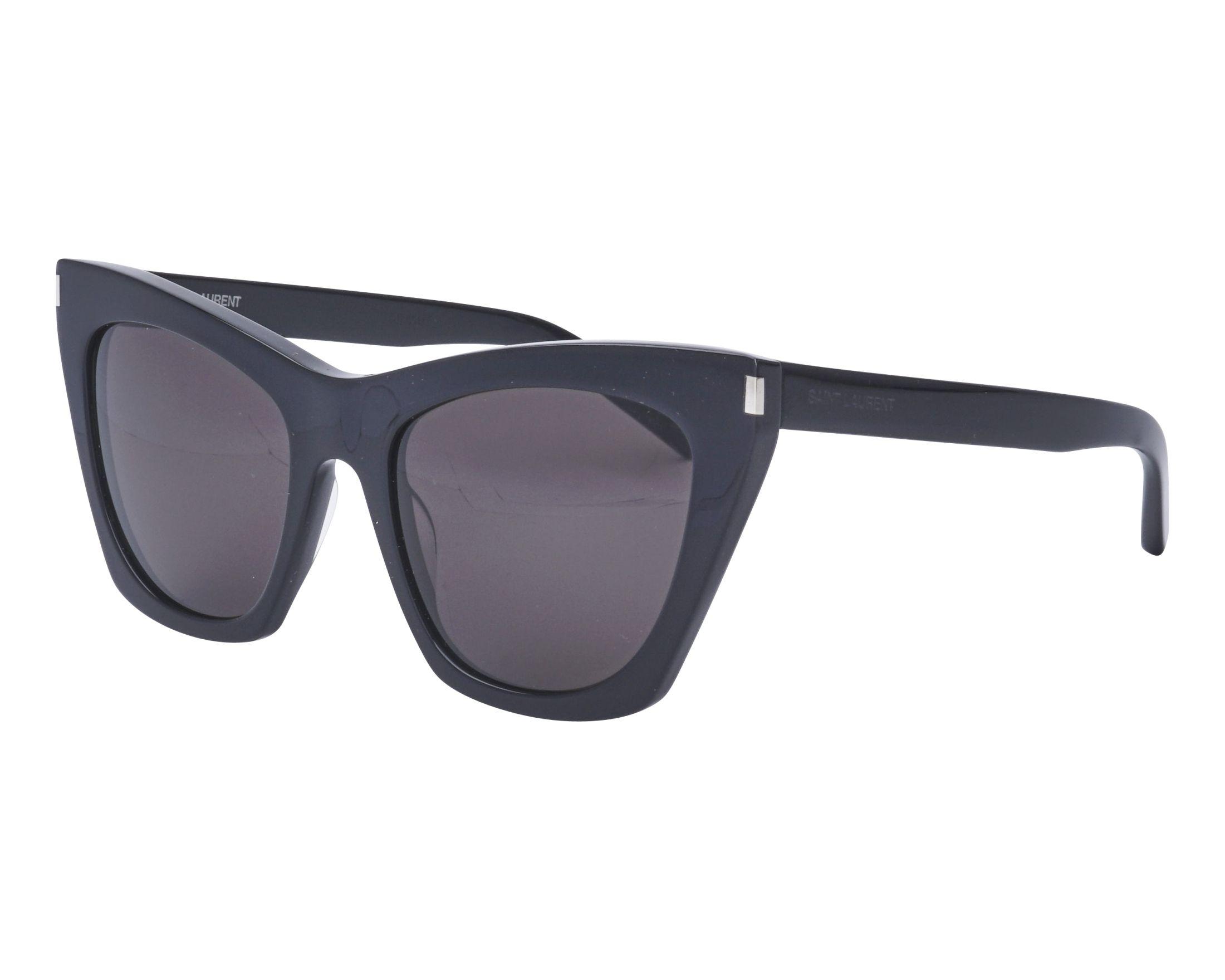 95a1a7ded33 Sunglasses Yves Saint Laurent SL-214 001 55-20 Black profile view