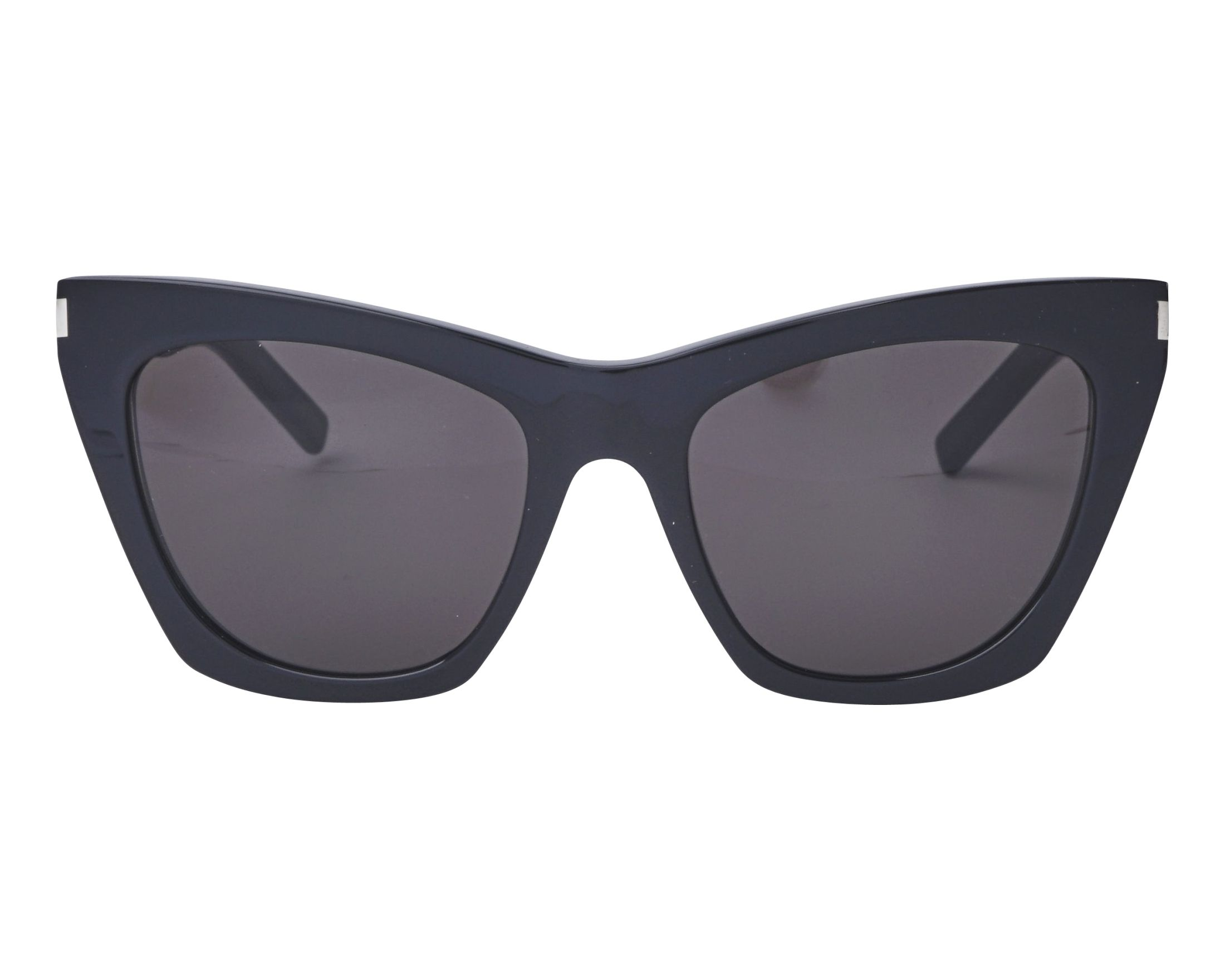 e14e9d31437 Sunglasses Yves Saint Laurent SL-214 001 55-20 Black front view