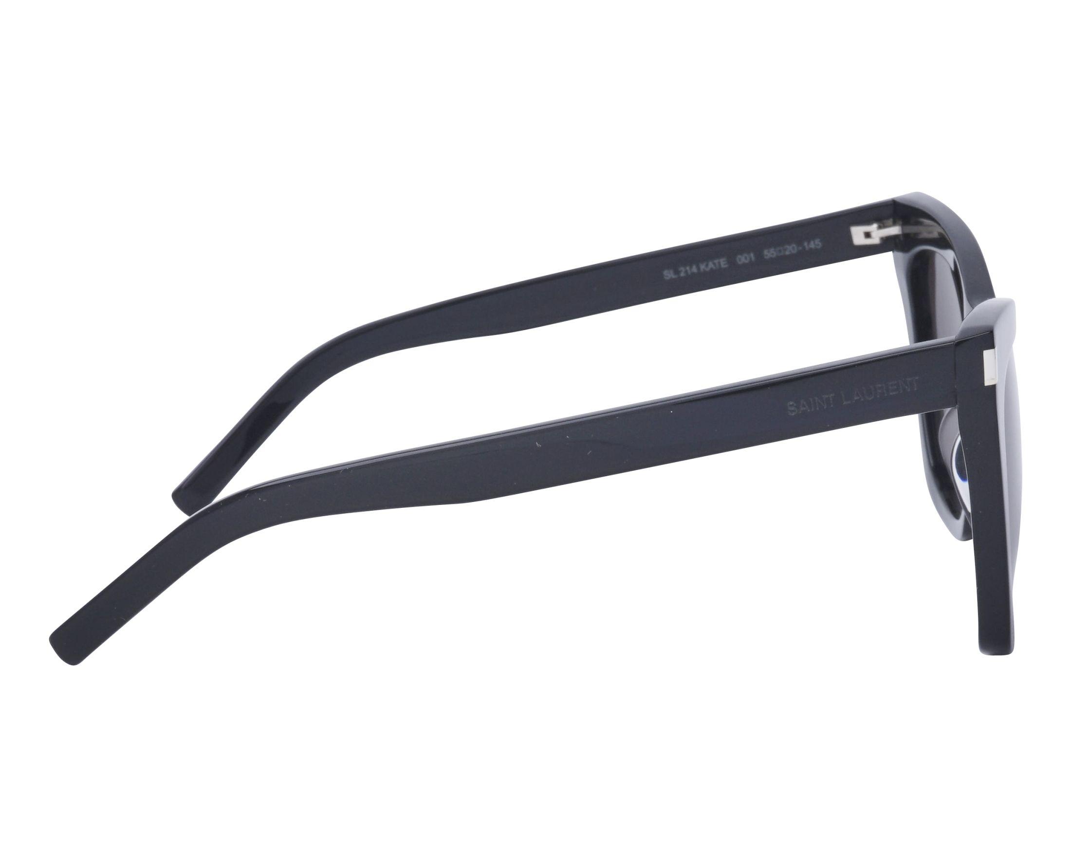 9fc0e296f1a Sunglasses Yves Saint Laurent SL-214 001 55-20 Black side view