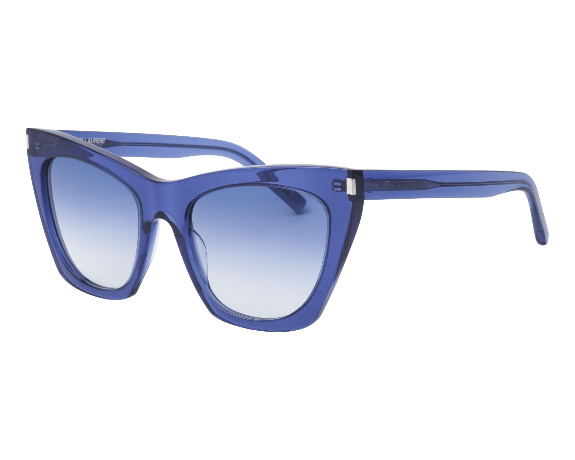 c5ae42cf366 Sunglasses Yves Saint Laurent SL-214 002 55-20 Blue profile view