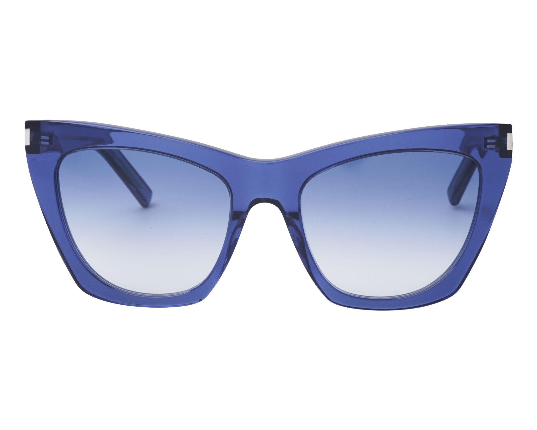 279a3a77b86 Sunglasses Yves Saint Laurent SL-214 002 55-20 Blue front view