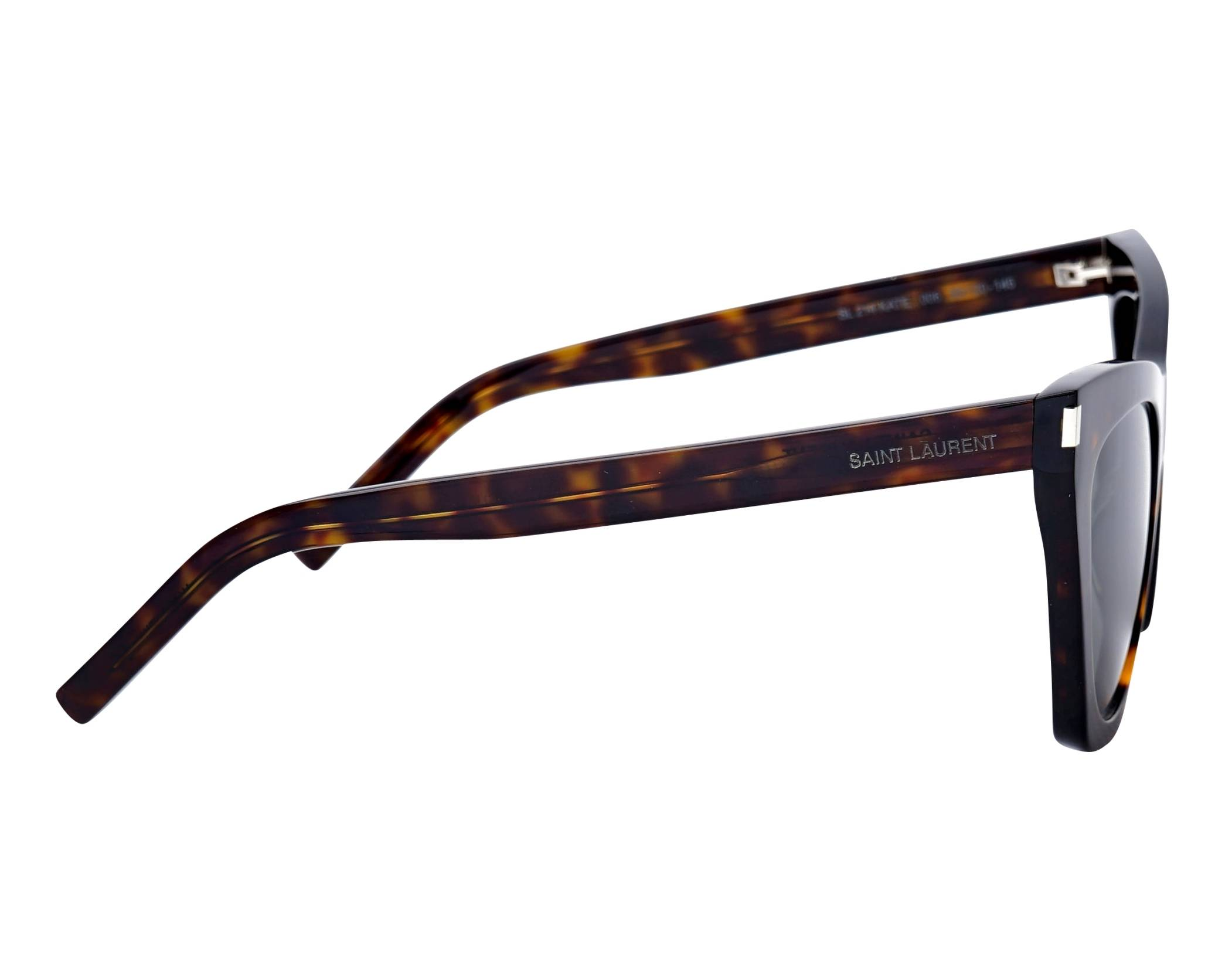 03410002ffe Sunglasses Yves Saint Laurent SL-214 006 55-20 Havana side view