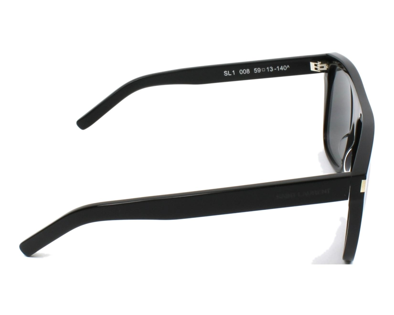 3cd9045e7e0f Sunglasses Yves Saint Laurent SL-1 008 59-13 Black side view
