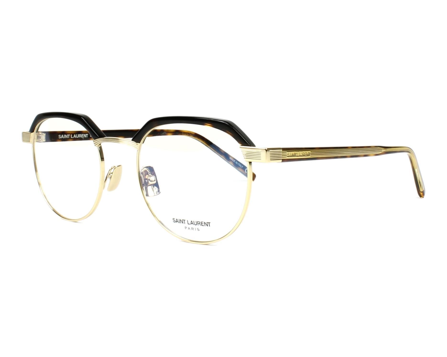 14aaf93b9e2 eyeglasses Yves Saint Laurent SL-124 003 50-21 Havana Gold profile view