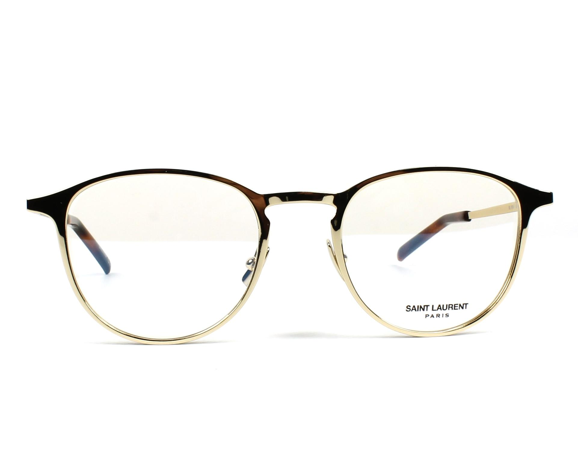 308b6a7da21 eyeglasses Yves Saint Laurent SL-179 002 49-20 Gold front view