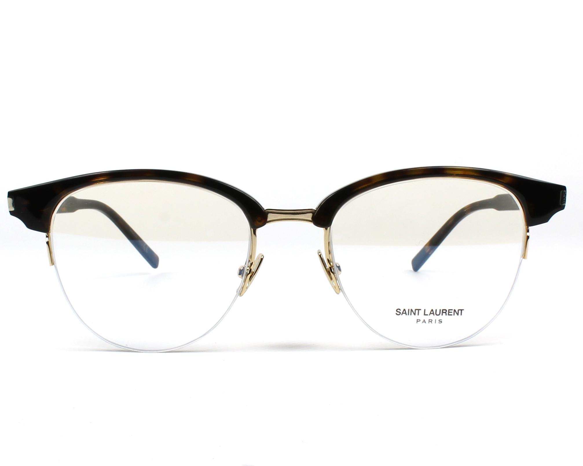 9a4ff1f4af8 eyeglasses Yves Saint Laurent SL-188-SLIM 002 49-18 Havana Gold front