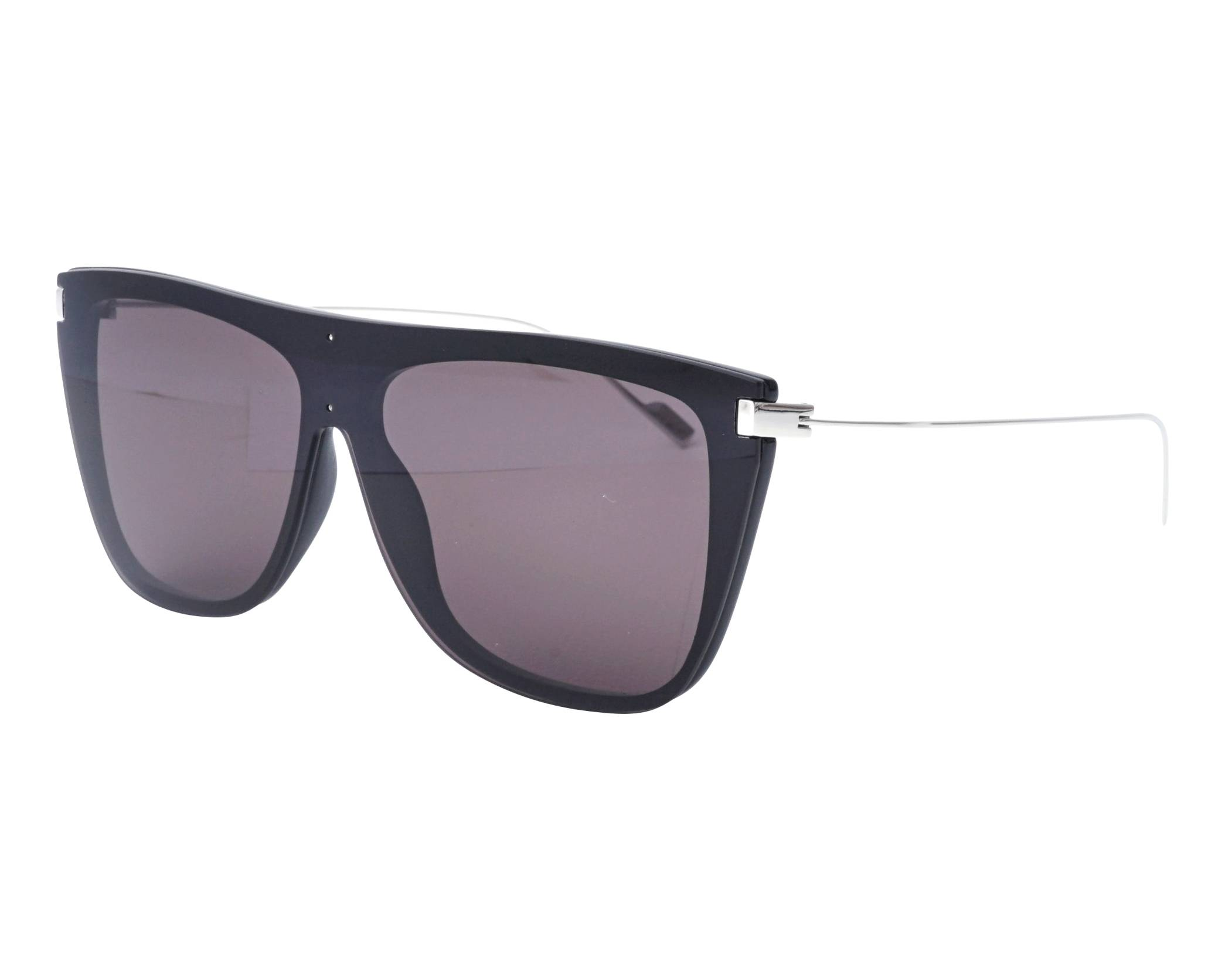 9b14b9e62f3 Sunglasses Yves Saint Laurent SL-1-T 001 65-16 Black Silver profile