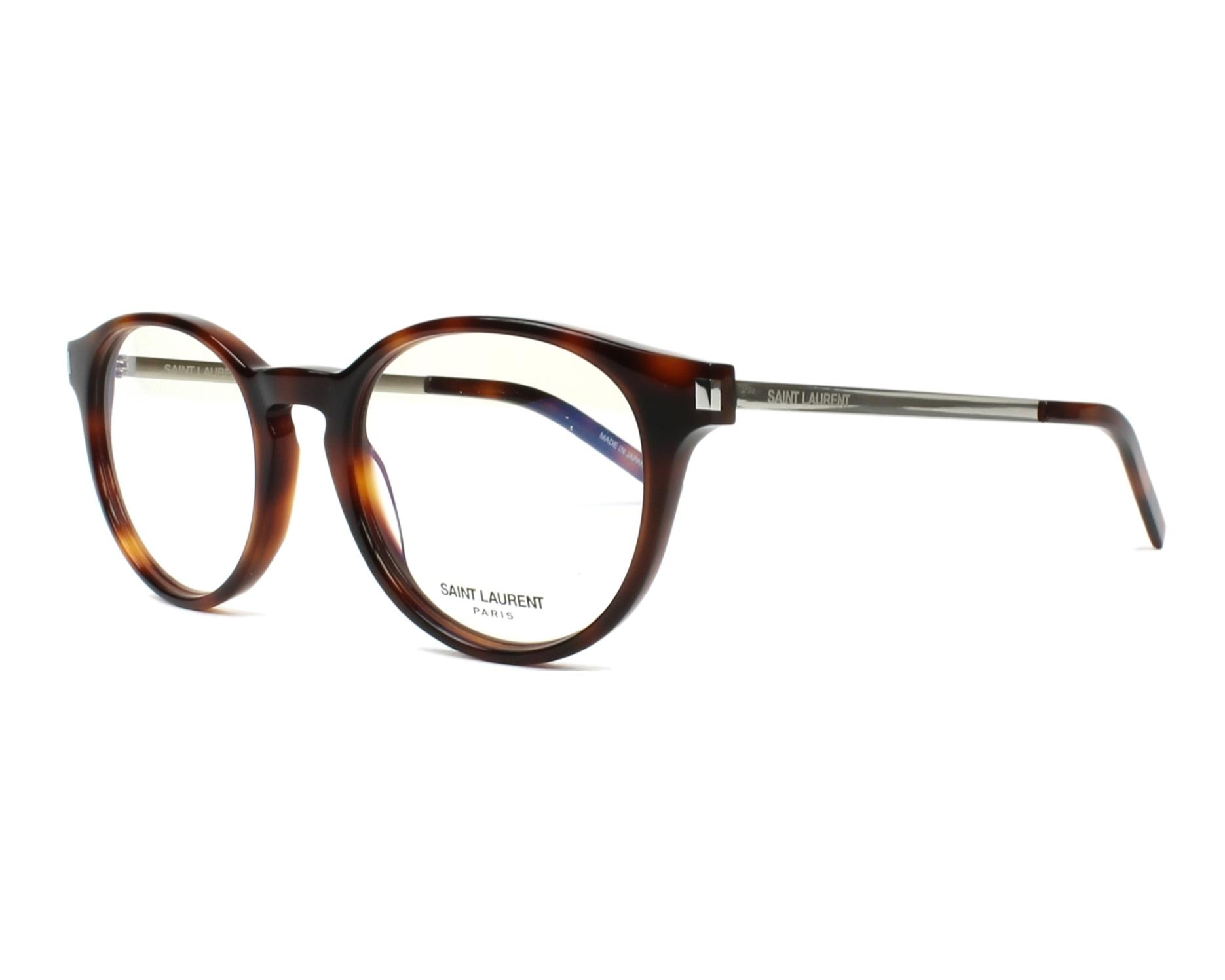 eyeglasses Yves Saint Laurent SL-25 002 49-19 Havana Silver profile view c5f30aa1493f