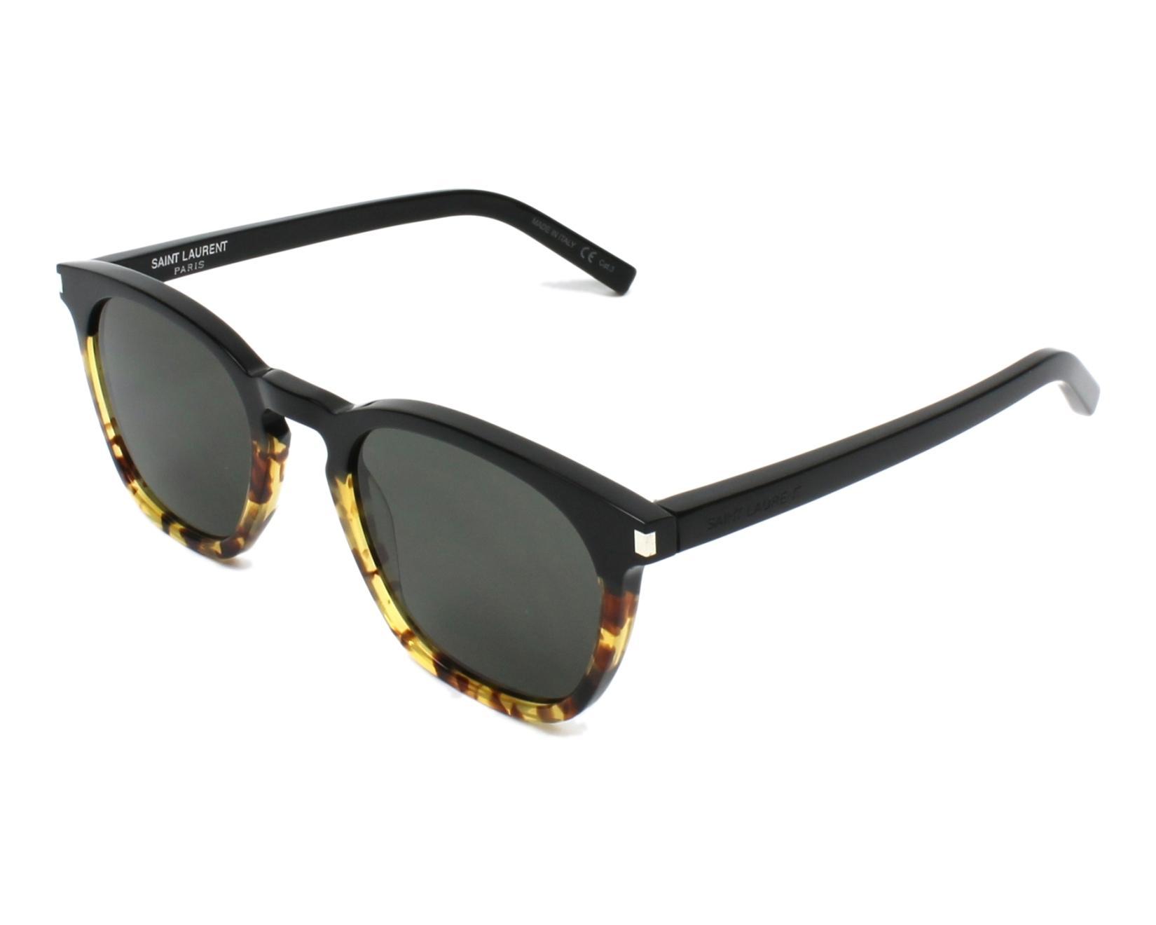 af05b125db2 Sunglasses Yves Saint Laurent SL-28 024 51-23 Black Havana profile view