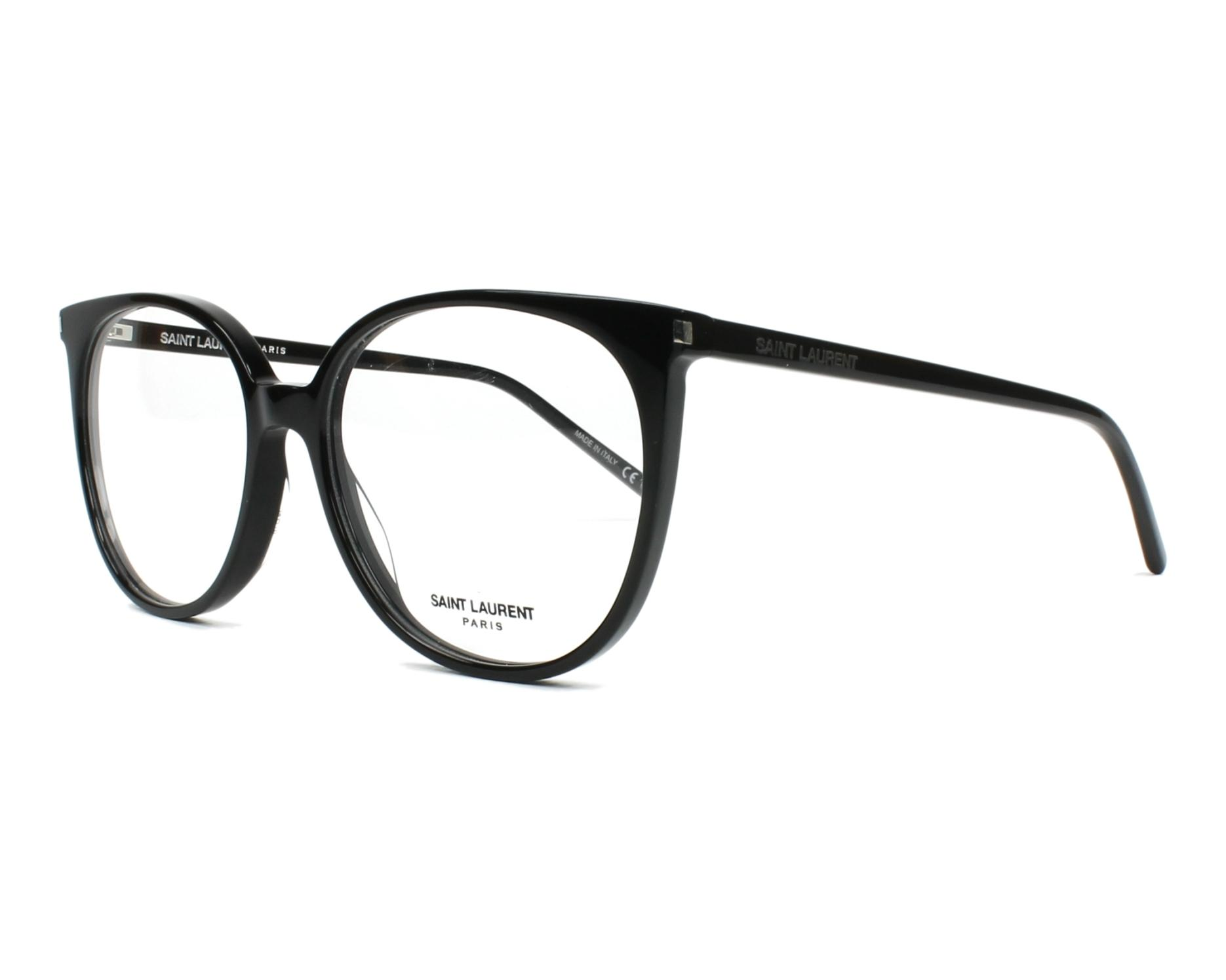 3c899fef3e70b7 eyeglasses Yves Saint Laurent SL-39 001 54-16 Black profile view