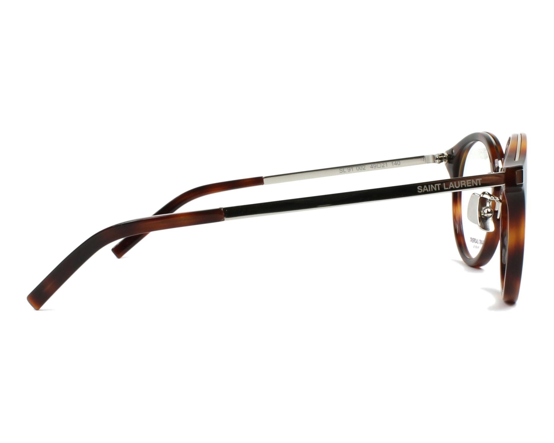 fc68f53dd8 eyeglasses Yves Saint Laurent SL-91 002 49-21 Havana Silver side view