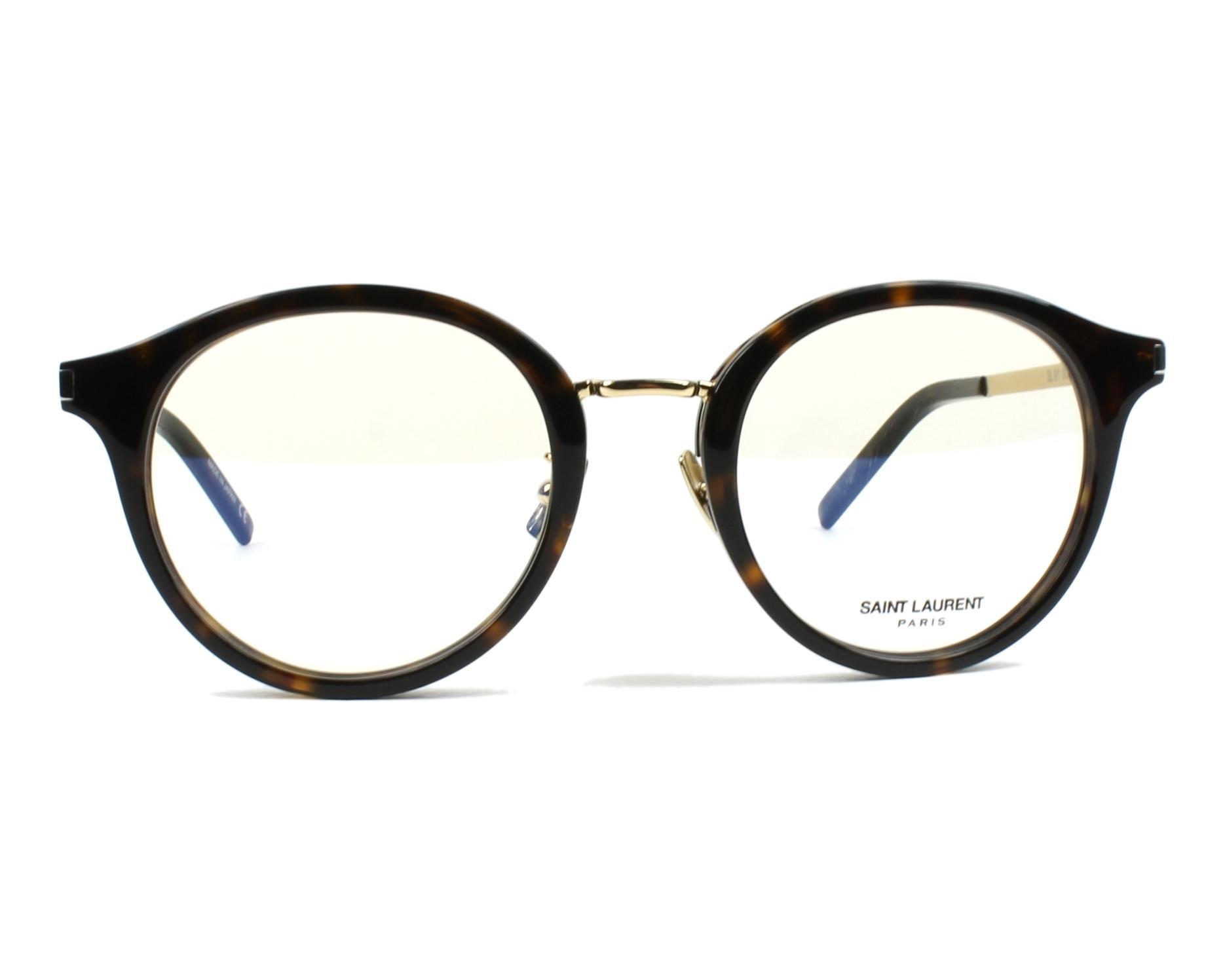 a467c6afe9 eyeglasses Yves Saint Laurent SL-91 007 49-21 Havana Gold front view