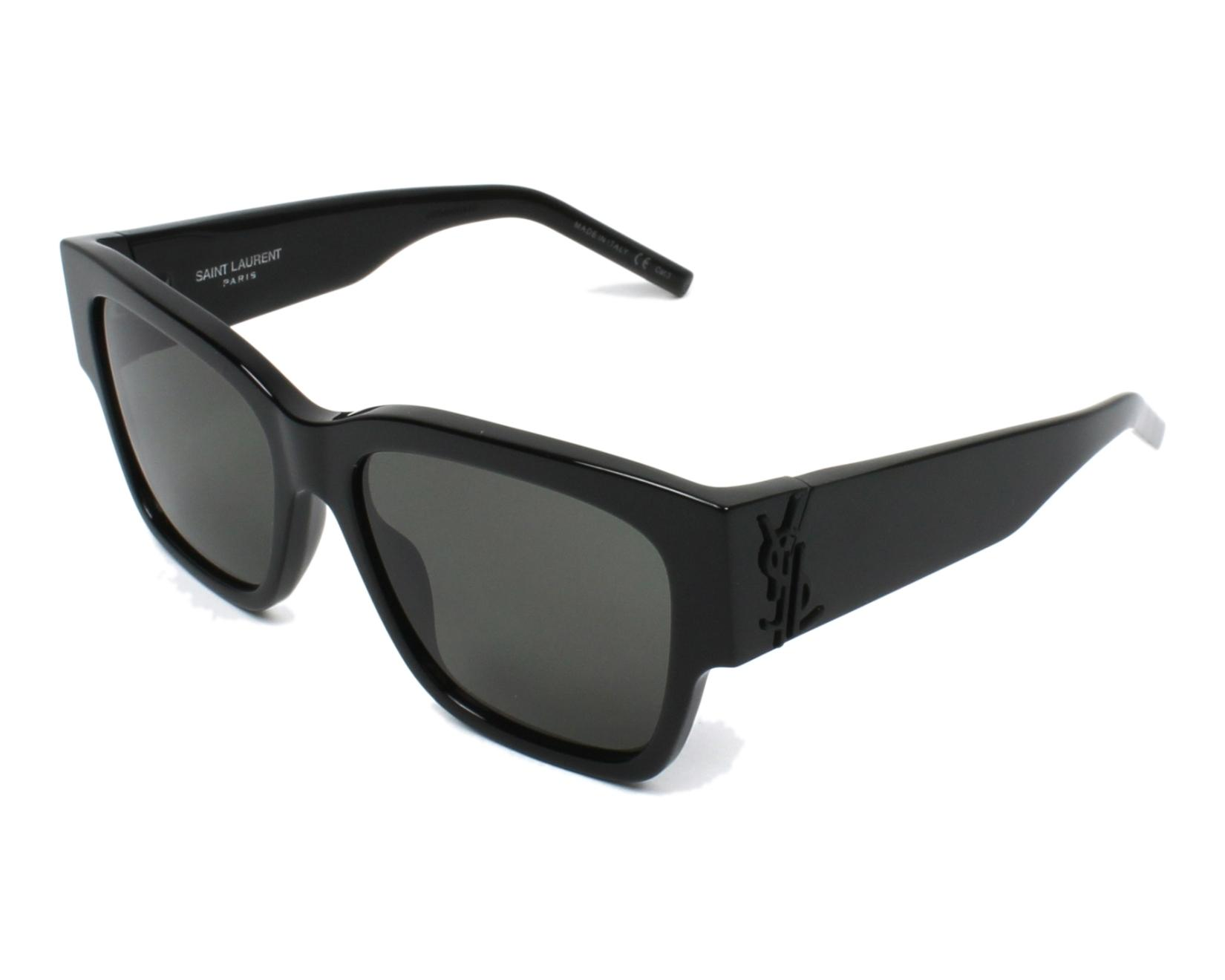 a7f69da2ad1 Sunglasses Yves Saint Laurent SLM-21 001 56-17 Black profile view